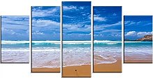 HGFDS Wall Art 5 Pieces Canvas Atlantic Seashore