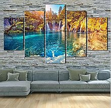 HGFDS Wall Art 5 Pieces Canvas Seascape Prints