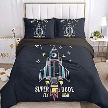 HGFHKL Cartoon rocket baby boy baby quilt cover