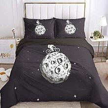 HGFHKL Lunar astronaut riding bike cartoon bedding