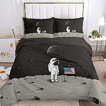 HGFHKL Sky astronaut and flag cartoon bedding