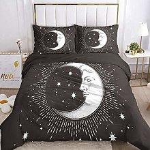 HGFHKL Star/moon/face gray bedding set 3D duvet