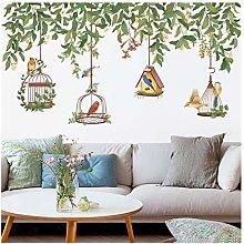 HGFJG Bird Cage Wall Stickers Living Room Cabinet