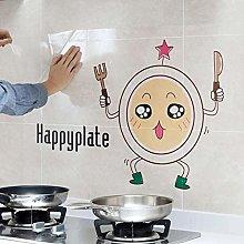 HGFJG Cartoon Anti-Oil Pollution Kitchen Pet Wall