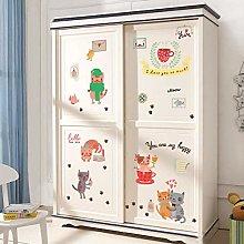 HGFJG Cartoon Cat Wall Stickers DIY Refrigerator