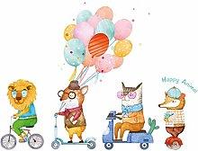 HGFJG Color Balloon Animal Car Children's Room