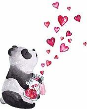 HGFJG Hand Drawn Panda Wall Sticker Style Art