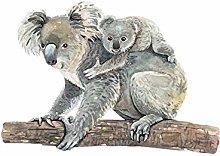 HGFJG Hand Painted Koala Wall Stickers for Kids