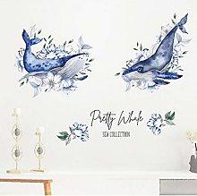 HGFJG Hand-Painted Shark Flower Fashion Living