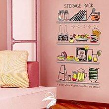 HGFJG Kitchen Wall Sticker Refrigerator Stickers