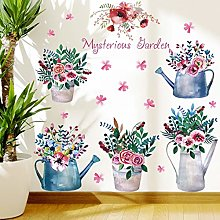 HGFJG Potted Plant Flower Removable Self-Adhesive