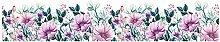 HGFJG Purple Flower Baseboard Wall Sticker Living