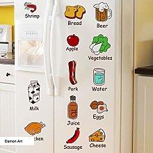 HGFJG Refrigerator Logo Wall Sticker DIY Cartoon