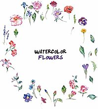 HGFJG Watercolor Flowers Combination Wall Sticker