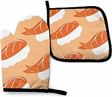 HGFK Oven Mitts and Pot Holders BBQ Gloves, Hot