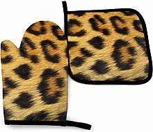 HGFK Oven Mitts and Pot Holders BBQ Gloves,