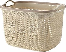 Hgjhy Rattan plastic storage basket large