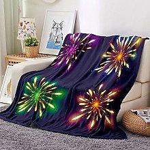 HGSWYUD Flannel Blanket Christmas fireworks Baby