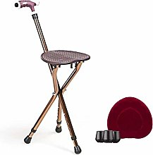 HGYGY Folding Walking Stick With Seat, Chair With