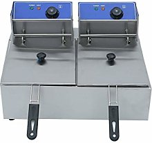 HHE Electric Deep Fryer Double Tank 2X10L