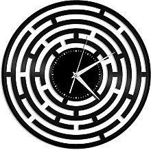 hhhjjj Abstract vinyl wall clock maze record clock