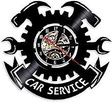 hhhjjj Car service vinyl clock workshop lamp for