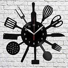hhhjjj Kitchen Vinyl Wall Clock LP Record Home