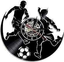 hhhjjj Vinyl Clock Football Vinyl Wall Clock