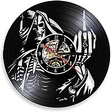 hhhjjj Vinyl record wall clock creative wall clock