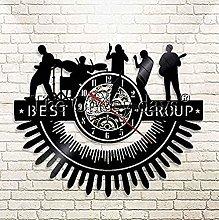 hhhjjj Vinyl Wall Clock Best Christmas Music Band