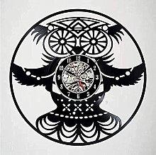 hhhjjj Vinyl wall clock owl decoration vinyl