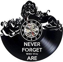 hhhjjj Vinyl wall clock vinyl wall clock lion