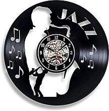 hhhjjj Vinyl Wall Clock Vinyl Wall Clock Saxophone