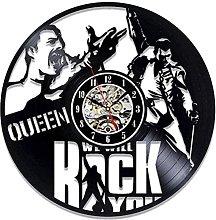 hhhjjj Vinyl wall clock with record singer music