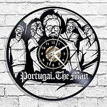 hhhjjj Vinyl wall clock with rock band silhouette