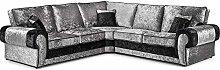 HHI Black/Silver Mixed Crushed Velvet Sofas