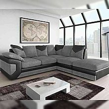 HHI L Shaped Sectional Grey/Black And Brown/Mink
