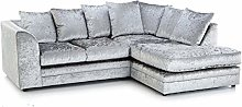 HHI Modern Silver Crushed Velvet Chicago Michigan