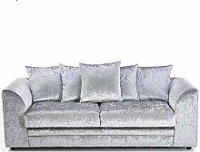 HHI Silver Crushed Velvet Sofa Sets for Living