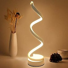 HHJJ Table Lamps LED Table Lamp Spiral Desk Lamp