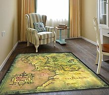 hhjxptst Carpet - Lord Of The Rings Map Of Middle