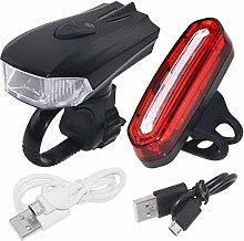 hhkty Rechargeable USB Bike Lighting Set, 300
