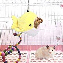 hhkty Squirrel Soft Winter Hamster Hammock, Small