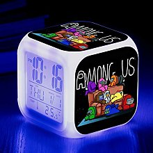 HHKX100822 7 Color Changing Square Clock Animation