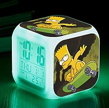 HHKX100822 Colorful Color Changing Alarm Clock Led