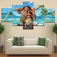 HHLSS 5 Pieces Artwork Canvases Paintings Sea