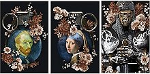 HHLSS Canvas painting 3 piece 19.7x27.6