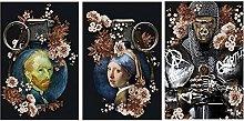 HHLSS Canvas print 3 piece 11.8x19.7 in(30x50cm)
