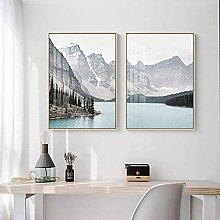HHLSS Canvas Wall Art 2 piece 19.7x27.6