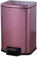 HHTX Pedal Trash Can, Stainless Steel Wastebasket